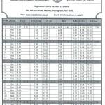Prayer. Timetable February 2015